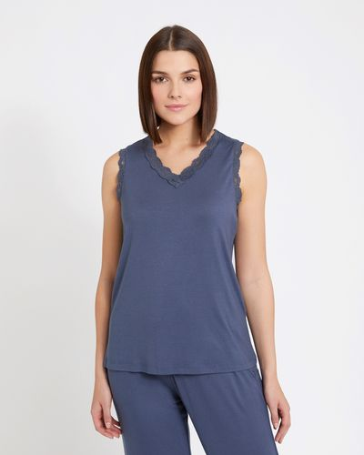 Paul Costelloe Living Studio Lace Trim Top thumbnail