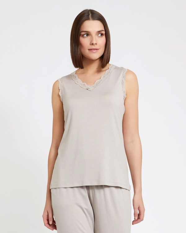 Paul Costelloe Living Studio Lace Trim Top