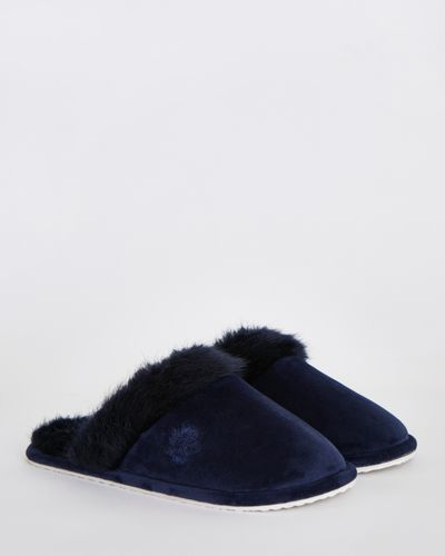 Paul Costelloe Living Faux Fur Slippers
