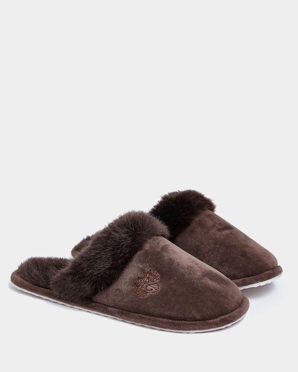 Paul Costelloe Living Brown Slippers