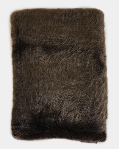Paul Costelloe Living Brown Faux Fur Throw