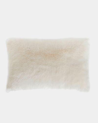 Paul Costelloe Living Ivory Faux Fur Cushion