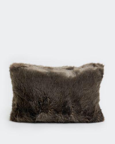 Paul Costelloe Living Grey Faux Fur Cushion