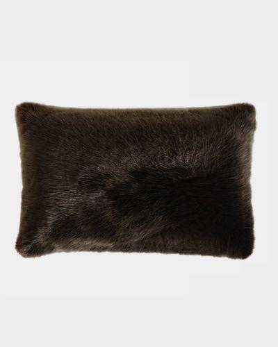 Paul Costelloe Living Brown Faux Fur Cushion