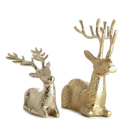 Paul Costelloe Living Sitting Gold Reindeer thumbnail