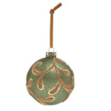 green Paul Costelloe Living Leaf Bauble