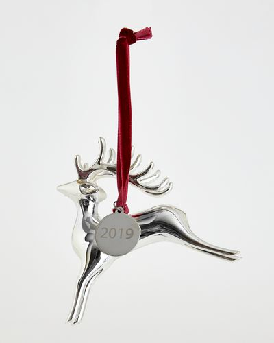 Paul Costelloe Living Reindeer Silver Decoration thumbnail