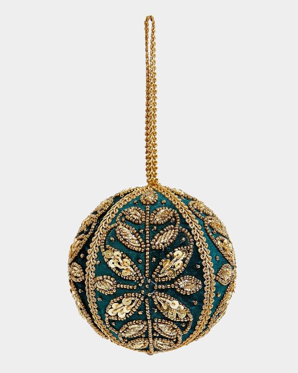 Paul Costelloe Living Beaded Green Decoration