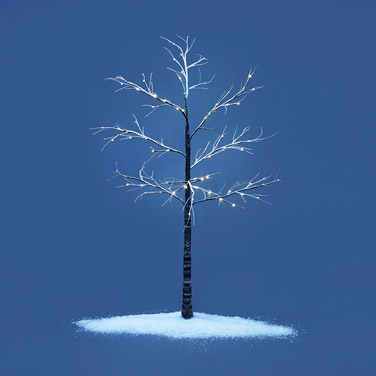 brown Paul Costelloe Living Snowy Pre-Lit Tree - 1.8m