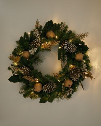 Paul Costelloe Living LED Gold XL Wreath