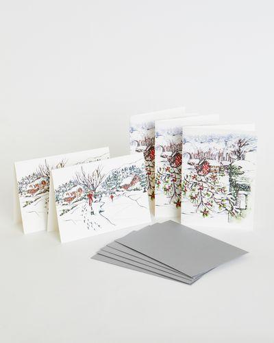 Paul Costelloe Living Christmas Scene Card Set - Pack Of 5