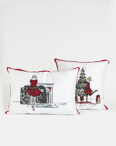 Paul Costelloe Living Festive Lady Cushion