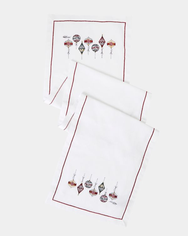 Paul Costelloe Living Embroidered Christmas Runner
