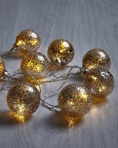 Paul Costelloe Living LED Glass Ball Decoration - Set Of 10