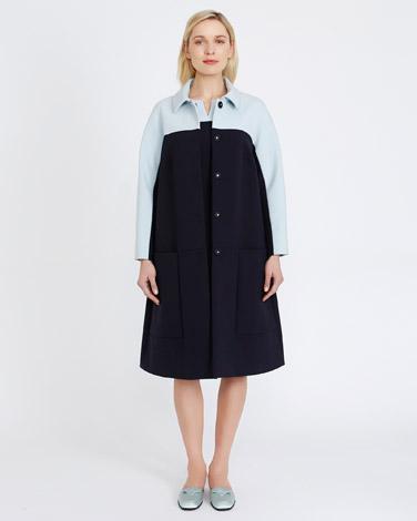 navyPeter O'Brien Colour Block Coat