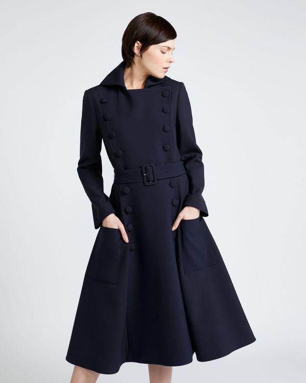 Peter O'Brien Belted Button Coat