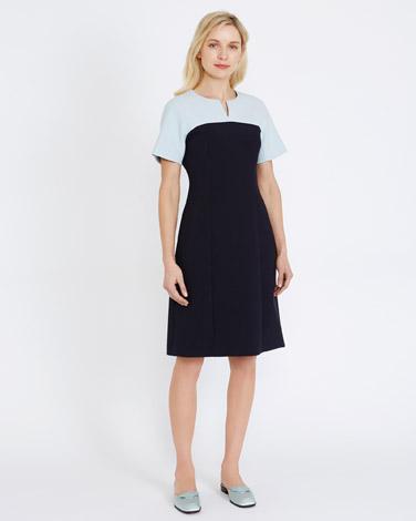 navyPeter O'Brien Colour Block Dress