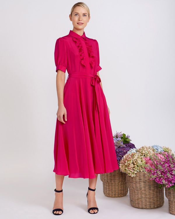 Peter O'Brien Silk Shirt Dress