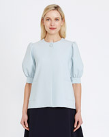 ice-blue Peter O'Brien Pocket Top