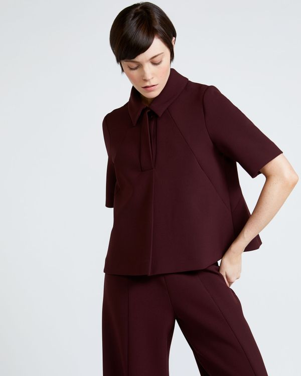 Peter O'Brien Swing Collar Top