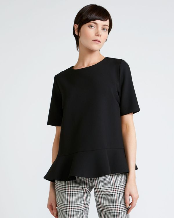 Peter O'Brien Button Back Top