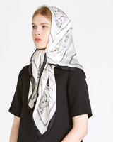 black Peter O'Brien Sketch Silk Scarf