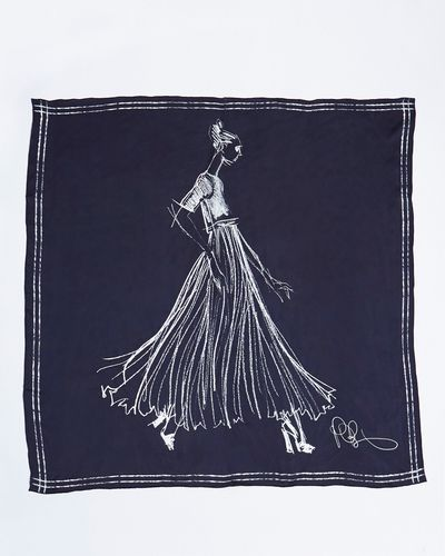 Peter O'Brien Illustration Silk Scarf