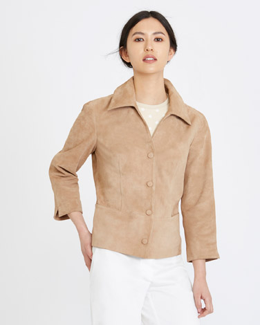 tanMichael Mortell Suede Jacket