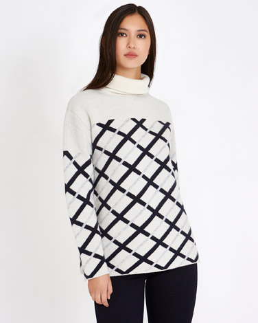 creamMichael Mortell Jacquard Sweater (Limited Edition)