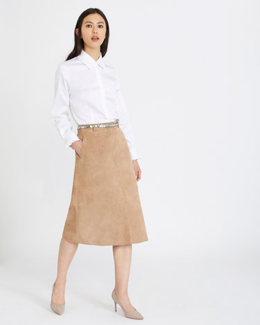 tanMichael Mortell Suede Skirt