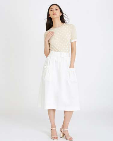 cream Michael Mortell Pocket Skirt