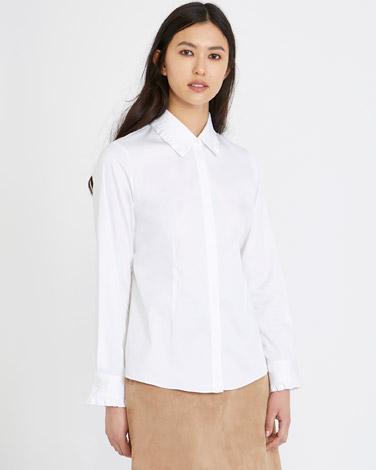 whiteMichael Mortell Frill Shirt