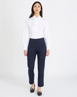 navy Michael Mortell Cropped Trousers