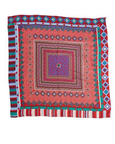 Michael Mortell Abstract Printed Scarf