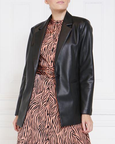 Gallery Bijou Faux Leather Blazer
