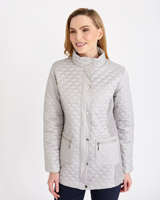 grey Gallery Mixed Quilted Jacket