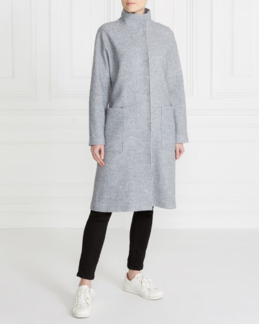 Gallery Funnel Wool-Blend Coat
