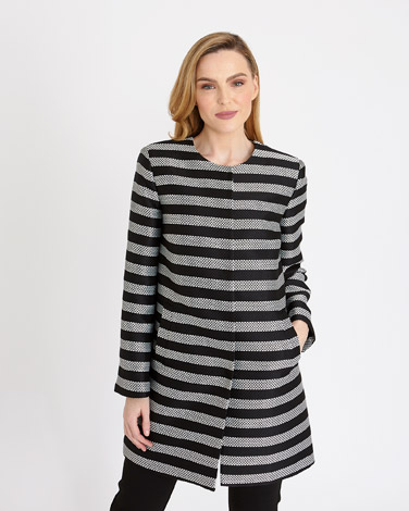Gallery Mono Stripe Coat