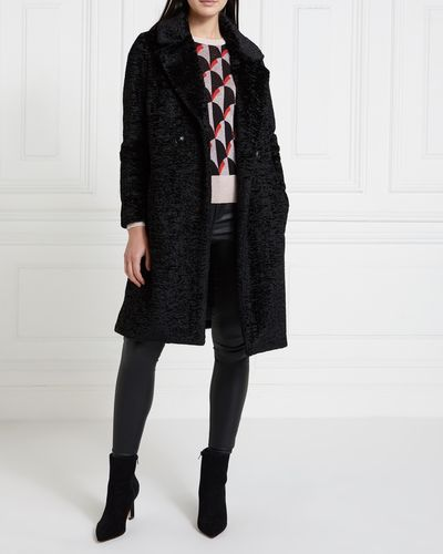 Gallery Mistletoe Faux Astrakhan Coat