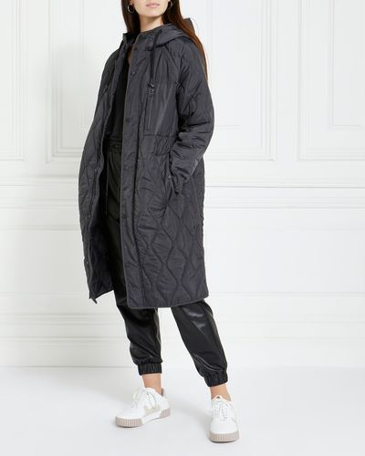 Gallery Hooded Quilted Coat