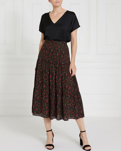 Gallery Floral Tiered Skirt