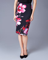multi Gallery Floral Pencil Skirt