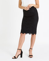 black Gallery Lace Skirt