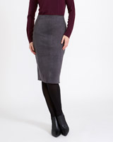 charcoal Gallery Suedette Skirt