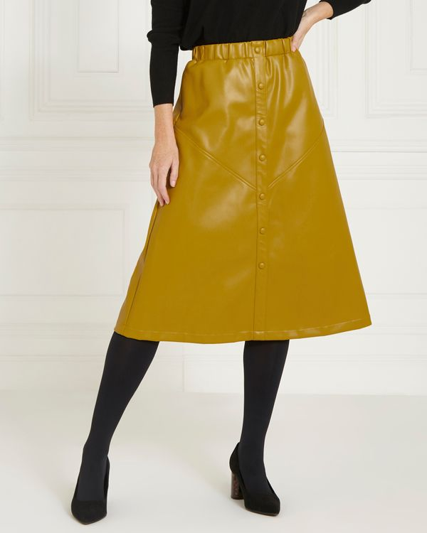 Gallery Faux Leather Skirt