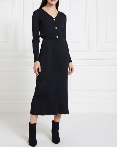 Gallery Mistletoe Knit Skirt