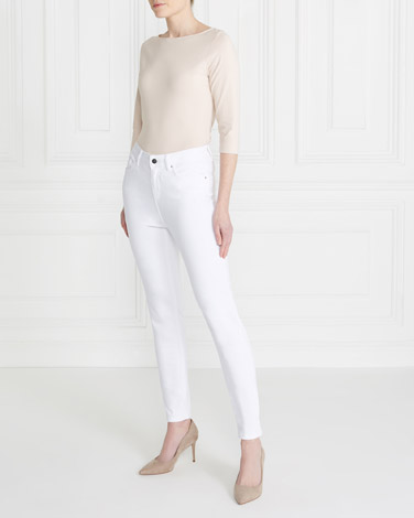 white Gallery Everyday Jeans