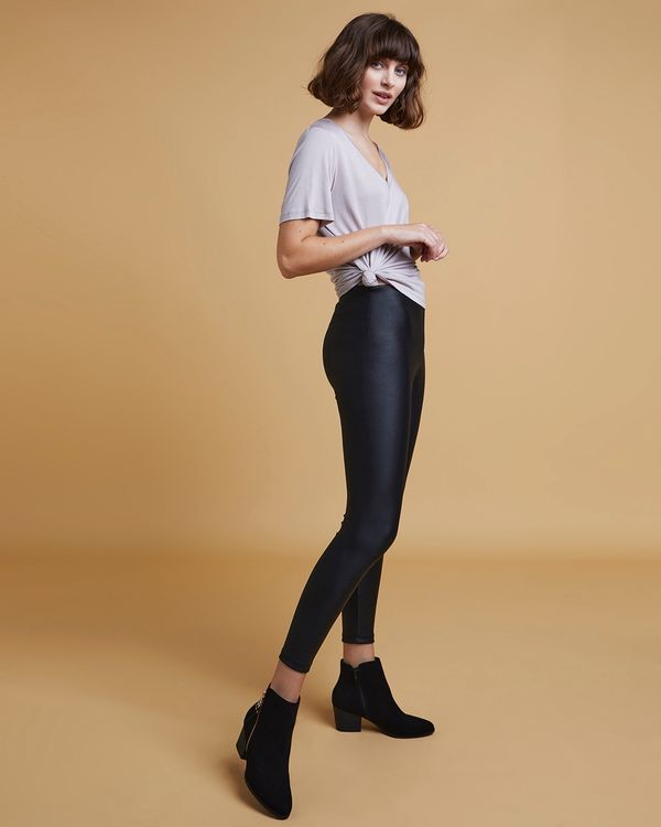 Gallery Faux Leather Leggings