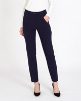 navy Gallery Button Trousers