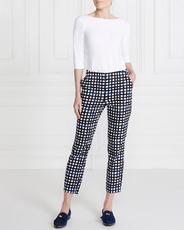 blue Gallery Printed Trousers